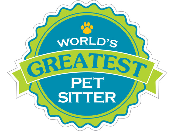 "World's Greatest Pet Sitter 3"" Decal"