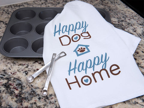 Kitchen Towel - Happy Dog Happy Home
