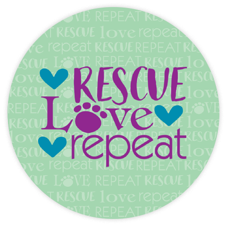 Absorbent Stone Car Coaster - Rescue Love Repeat