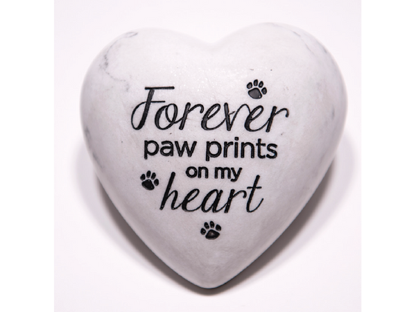 Inspirational Paperweight - Forever Paw Prints on my Heart