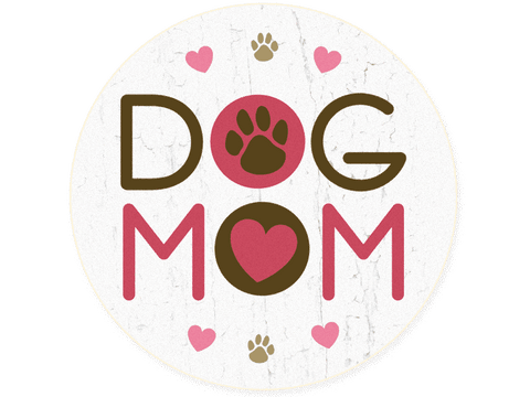 Absorbent Stone Car Coaster - Dog Mom