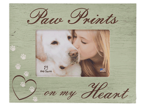 Horizontal - Paw Prints on my Heart