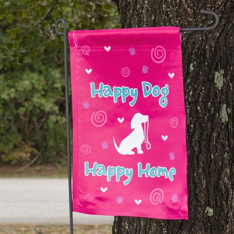 Happy Dog Happy Home Garden Flag