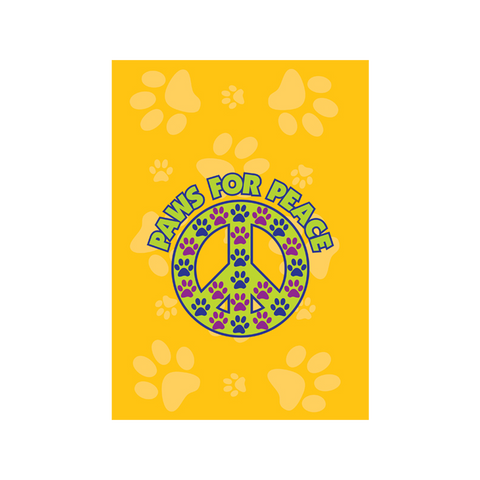 Paws for Peace Garden Flag