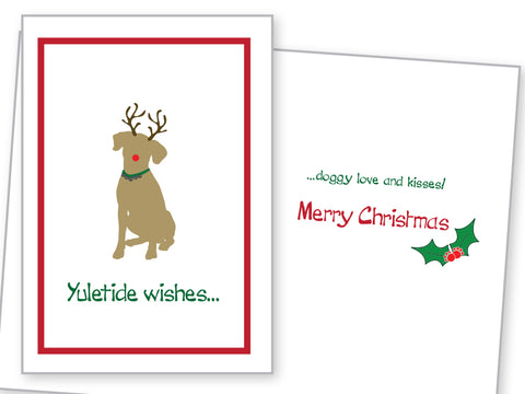 Holiday Card - Doggy Love and Kisses