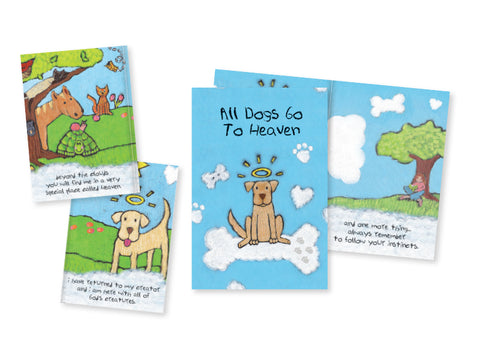 Pet Sympathy Booklet - All Dogs Go To Heaven