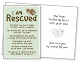 Dog Lover Rescue Card - I Am Rescued