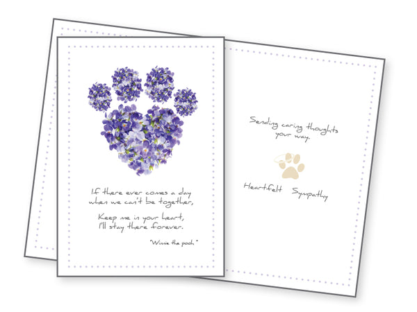 Pet Sympathy Card - If There Ever Comes A Day...