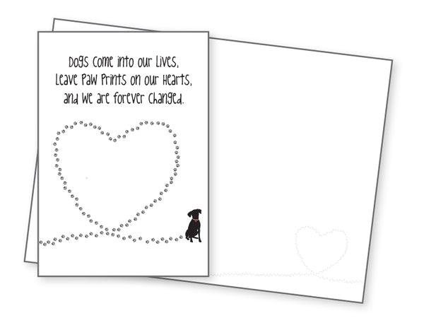 Dog Lover Card - Dogs Come Into Our Lives