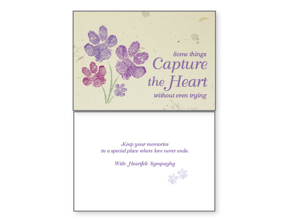 Pet Sympathy Card - Some Things Capture The Heart...