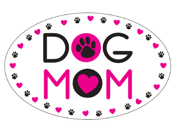 Flexible Oval Shaped Magnet - Dog Mom