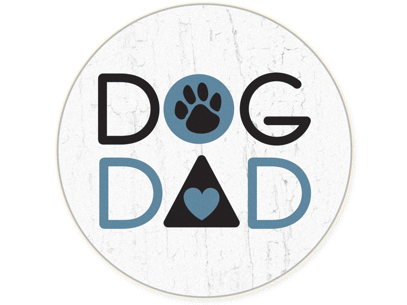 Absorbent Stone Car Coaster - Dog Dad