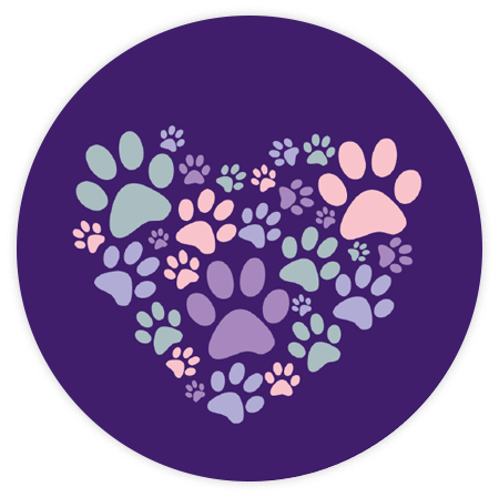 Absorbent Stone Car Coaster - Heart Paws