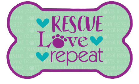 Bone Shaped Magnet - Rescue Love Repeat