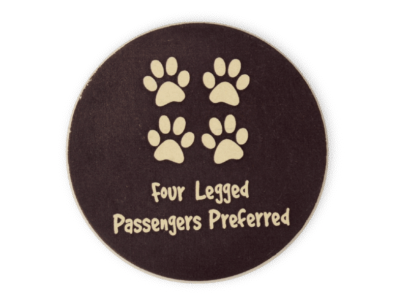 Absorbent Stone Car Coaster - 4 Legged Passengers