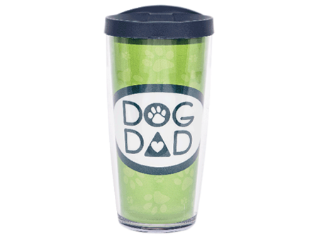 16 oz Thermal Drinkware - Dog Dad w/navy lid