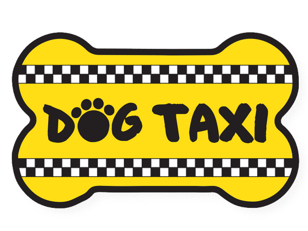 Flexible Bone Shaped Magnet - Dog Taxi