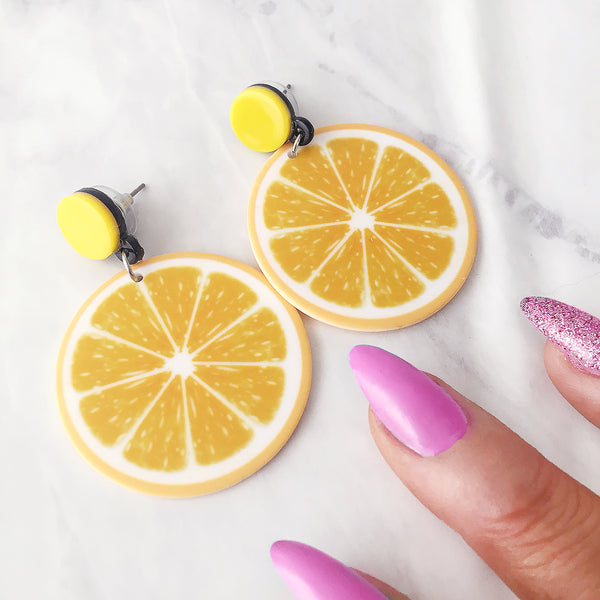Lemon Squeezy Earrings