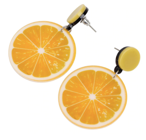 acrylic lemon stud earrings