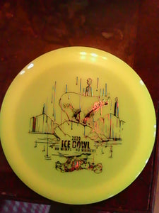Dynamic Discs Yellow Lucid Raider Ice Bowl 2020 166 G*