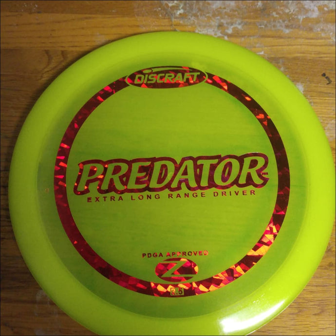 Discraft Yellow Stock Z Plastic Predator 167-169 Grams
