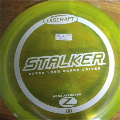 Discraft Yellow Stock Z Stalker 167- 169 Grams