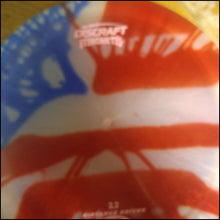 Load image into Gallery viewer, Discraft Z Machete Stock Tye Dye American Flag 171 Grams