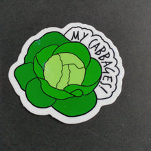 "Load image into Gallery viewer, My Cabbages Vinyl 2"" Sticker"