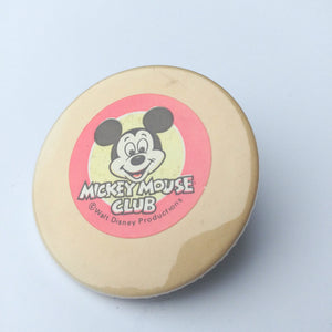 Vintage Mickey Mouse Club Button, Vintage Disney Pin