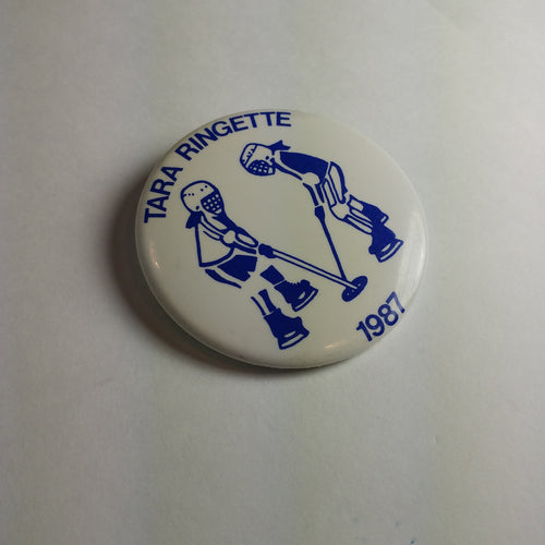 Vintage Tara Ringette Team Pin, Small Town Ontario Ringette Player 1980s