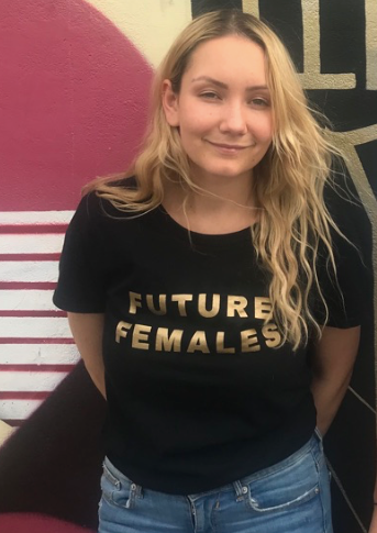 Limited Edition Black Future Females T-shirt with Gold Print
