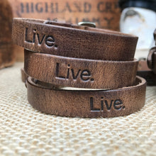 Classic Leather Bracelet - Vintage Brown - Bucket Bands