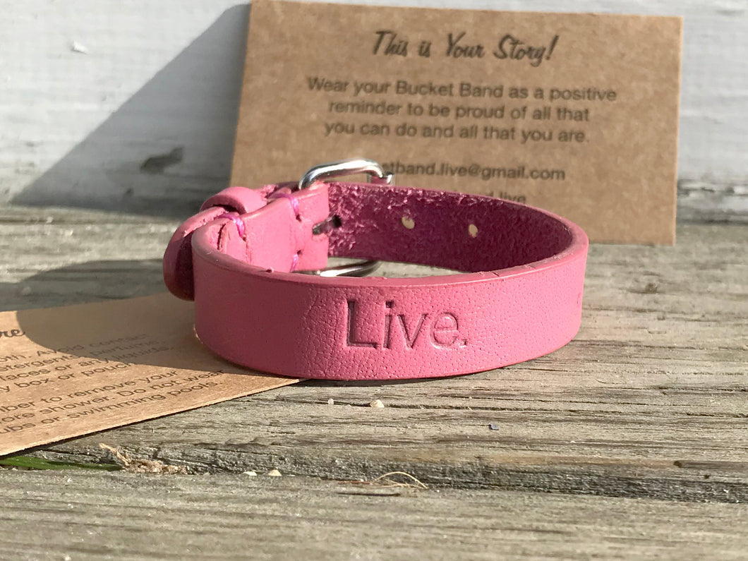 NEW! Vintage Pink Leather Bracelet