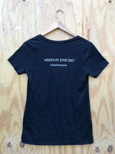 Women's V-Neck 'What's On Your List' T-shirt - Bucket Bands