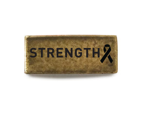 Strength with Ribbon (Brass) - Bucket Bands