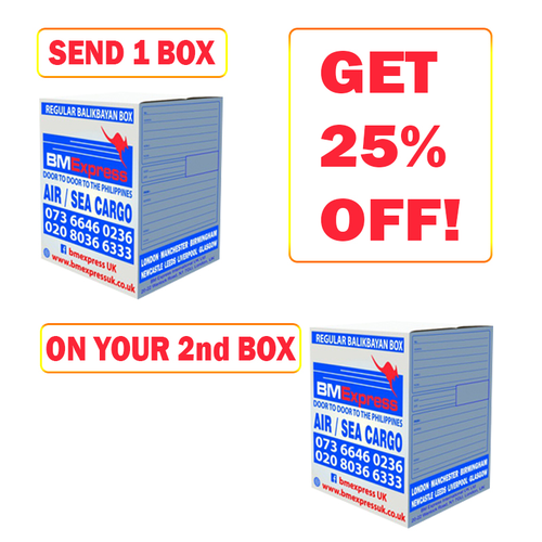 Buy 1 and 25% off 2nd Box