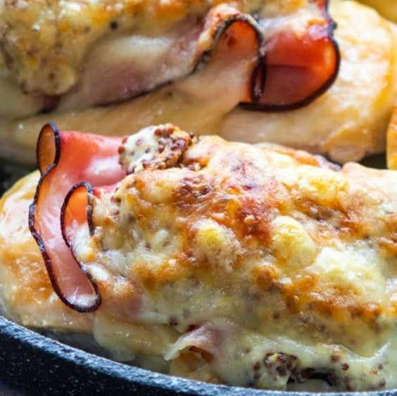 Inside Out Chicken Cordon Bleu
