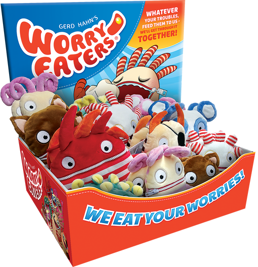 Worry Eaters - Worry Eater Shelf Display
