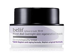 KOREAN COSMETICS, LG Household & Health Care_ belif, First Aid Overnight Skin Regeneration Mask (50ml, sleeping pack, moisturizing, nutrition supply)[001KR]