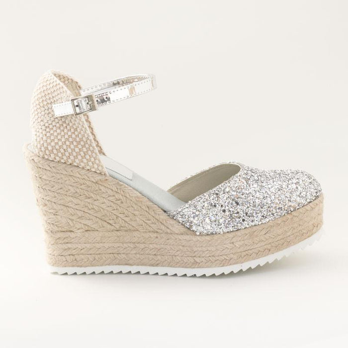 Cuñas Glitter Plata - 4qui.com Mercado Global en Español  Women Shoes