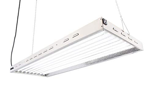 DoubleLux DL8048 T5 Flourescent 4ft 8 Lamps with 6500K and 40000 Lumen Grow Light System 8 tubes included