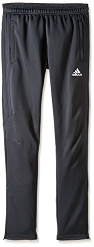 adidas Youth Soccer Tiro 17 Pants, X-Small - Dark Grey/White