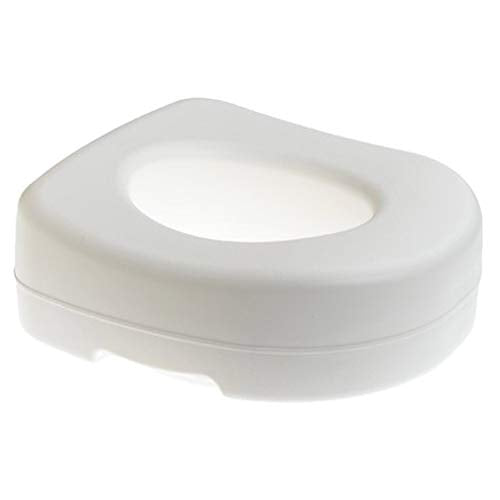 Carex Toilet Seat Riser - Adds 5 Inches of Height to Toilet - Raised Toilet Seat With 300 Pound Weight Capacity - Slip-Resistant