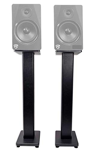 "2 Rockville RHTSB 36"" Inch Bookshelf Speaker Stands Surround Sound Home Theater"