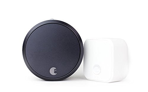 August Smart Lock Pro + Connect, 3rd gen technology - Dark Gray, works with Alexa