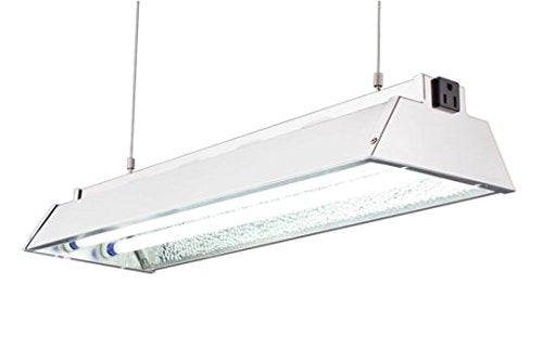 "DuroLux DL822N T5 HO 2Ft 2 Fluorescent Lamps Grow Lighting System with 5000 Lumens and 6500K Full Spectrum and Low Profile 7"" Wide Reflector"