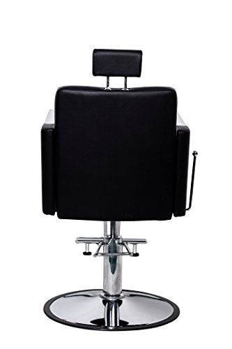 Beauty Style Hydraulic Reclining Styling Salon Spa Equipment Barber Chair with Removable Headrest Black