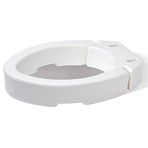 Carex Elongated Hinged Toilet Seat Riser - Adds 3.5 Inches of Toilet Lift, 300 Pound Weight Capacity - Hinged Toilet Riser For Easy Cleaning