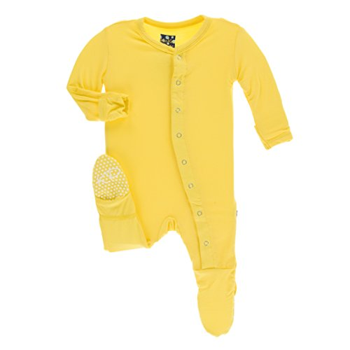 Kickee Pants Little Boys Solid Footie with Snaps - Zest, Preemie