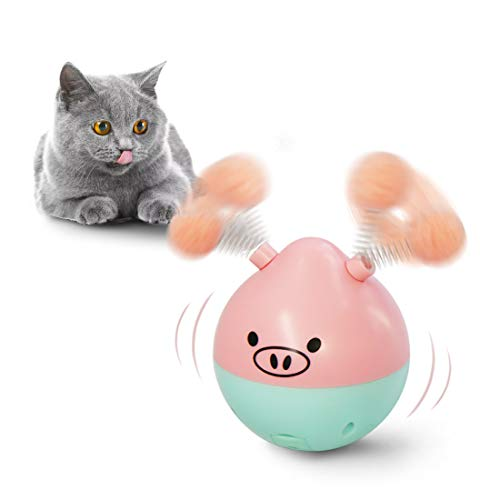 FOFOS Fun Crazy Interactive Electronic Cat Toy Ball, Multi-Function Automatic Spinning Tumbler Chaser